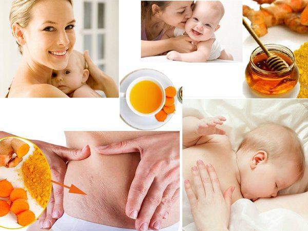 Cách uống tinh bột nghệ sau sinh