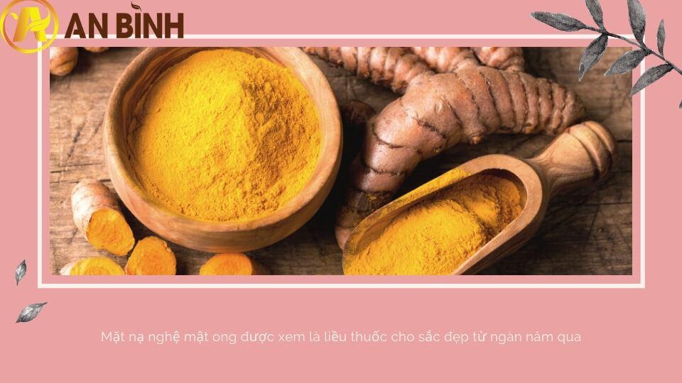 Tinh bột nghệ còn giúp cho làn da sáng hồng rạng rỡ, sạch mụn thâm